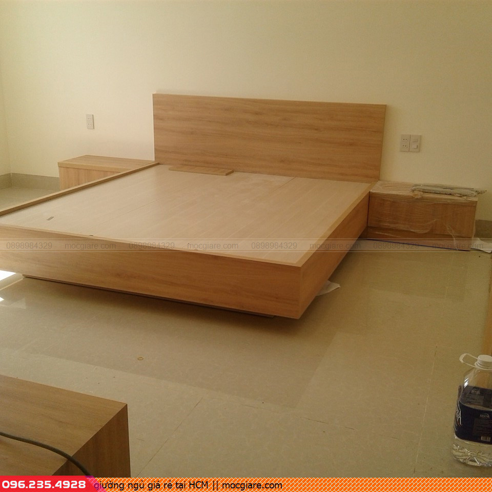 Đóng giường ngủ giá rẻ tại HCM
