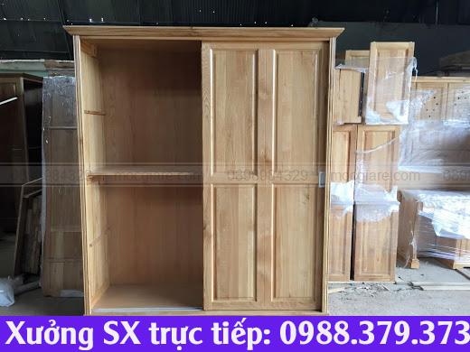 Nhận đóng tủ áo gỗ sồi HCM