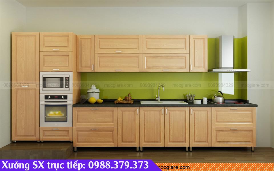 Thiết kế làm tủ bếp gỗ sồi Bình Dương đẹp rẻ