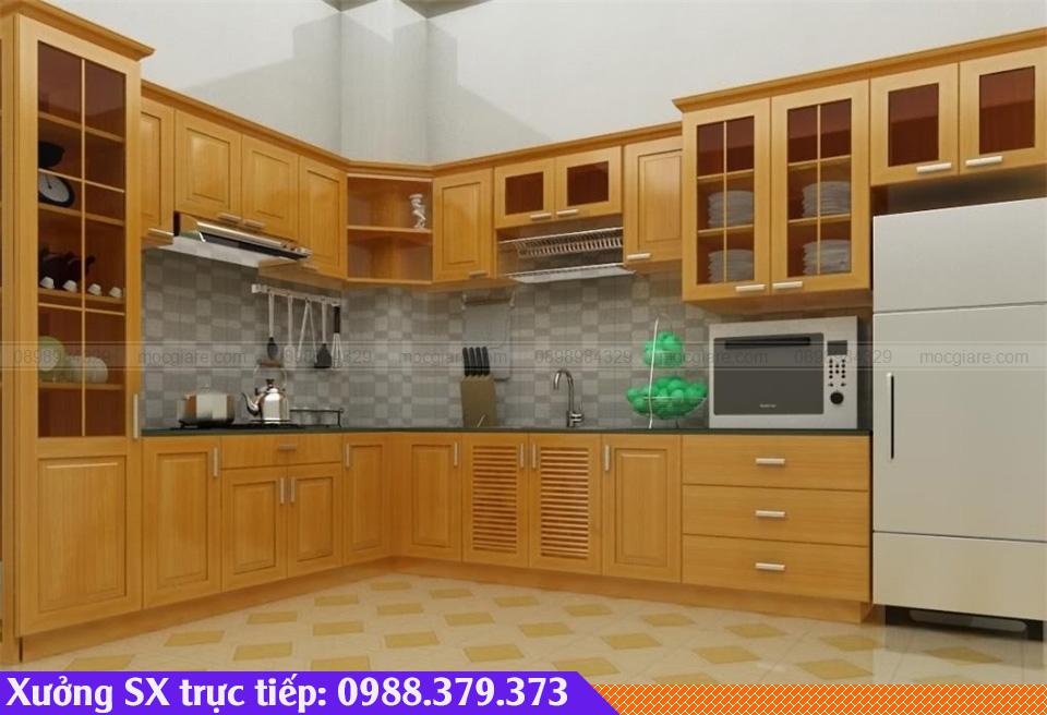 Tủ bếp gỗ sồi giá rẻ Bình Dương