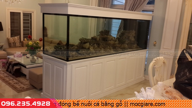 Xưởng đóng bể nuôi cá bằng gỗ