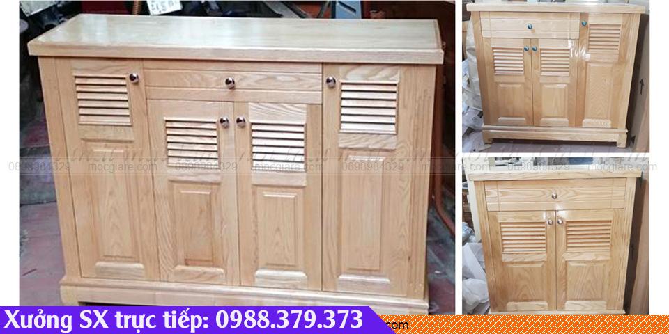 Xưởng mộc đóng tủ giày gỗ sồi HCM