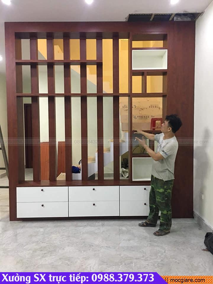 Xưởng nội thất làm vách ngăn gỗ tại Bình Dương
