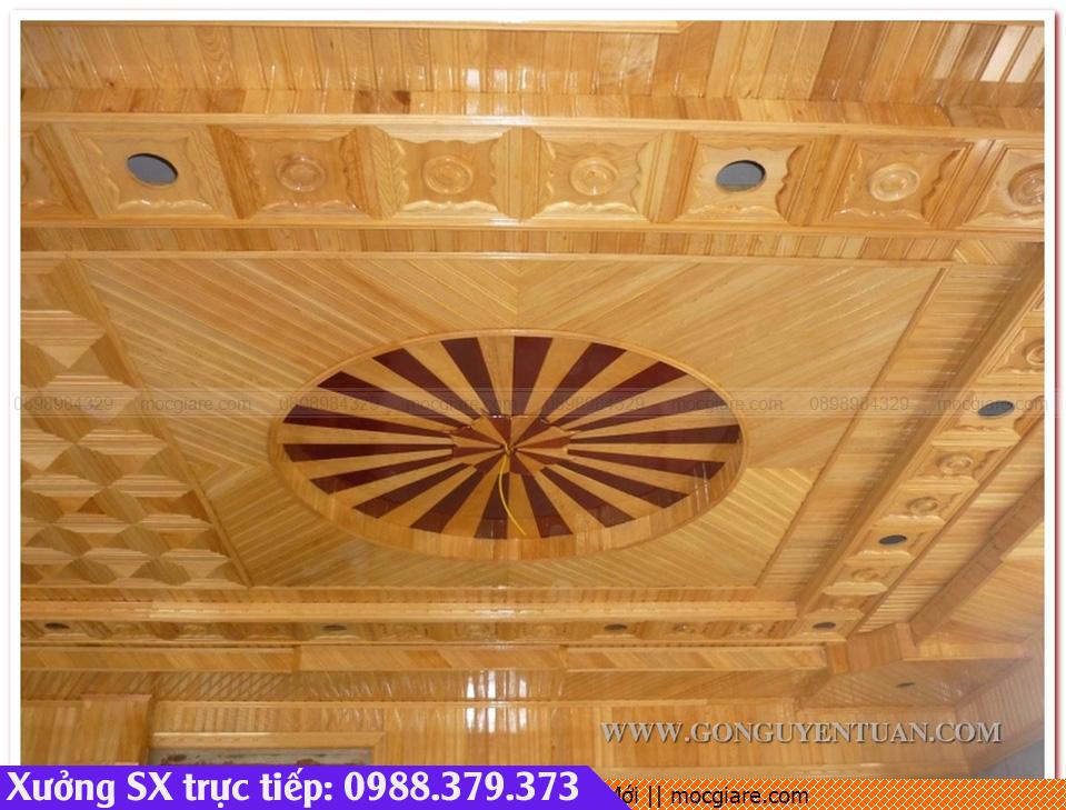 Chuyên đặt làm ốp gỗ trần nhà ở Thành Phố Mới 331819UMH