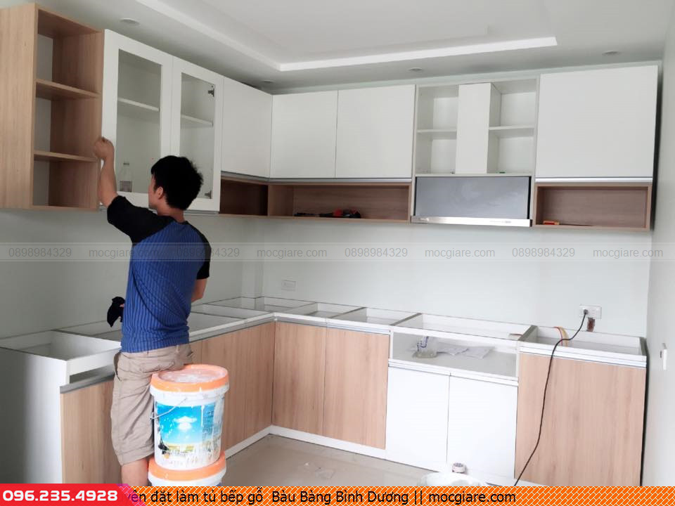 Chuyên đặt làm tủ bếp gỗ  Bàu Bàng Bình Dương 231819JW9
