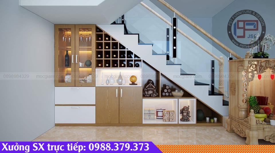 Đóng kệ cầu thang ở Bến Cát 381819ZKP